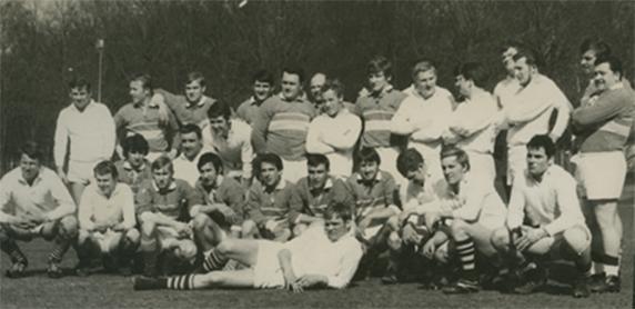 L'équipe des Touristes Elbeuviens en 1969.