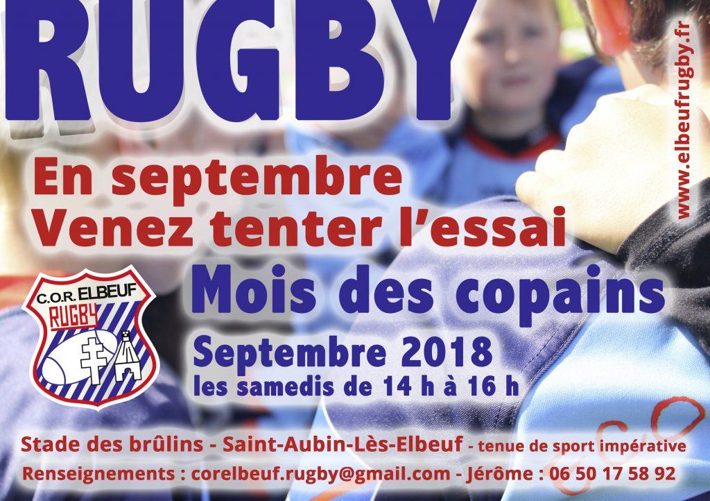Le mois des copains au COR Elbeuf Rugby